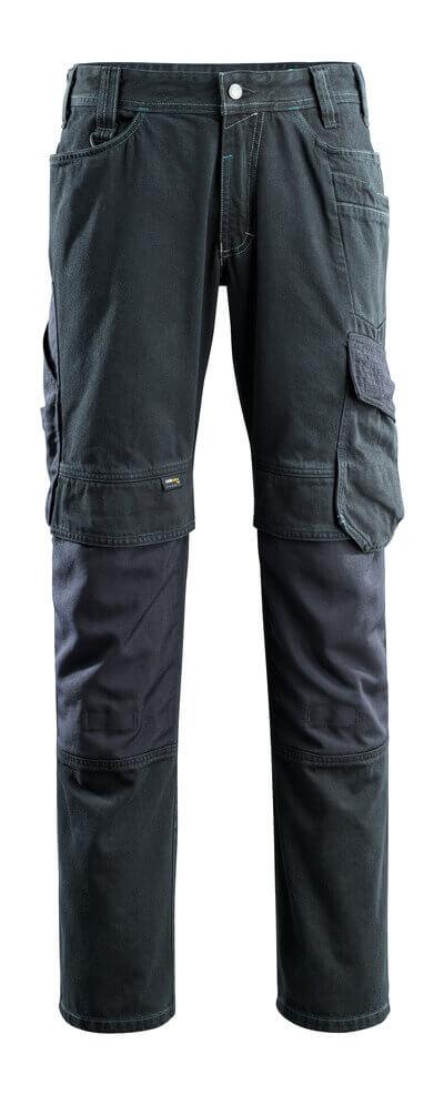 15179-207-86 Jeans con tasche porta-ginocchiere - blu scuro denim