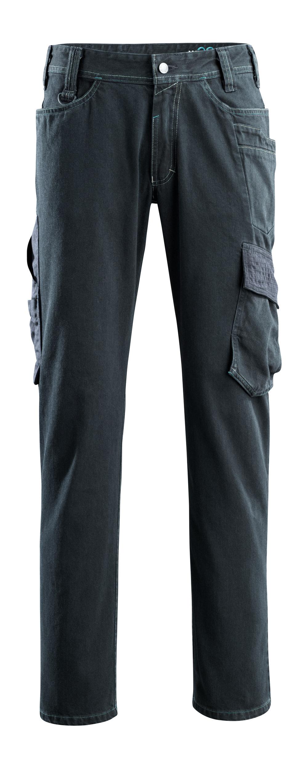 15279-207-86 Jeans con tasche sulle cosce - blu scuro denim