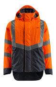 15501-231-14010 Giacca antivento - arancio hi-vis/blu navy scuro