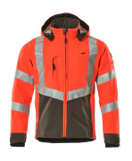 15502-246-22218 Giacca Softshell - rosso hi-vis/antracite scuro