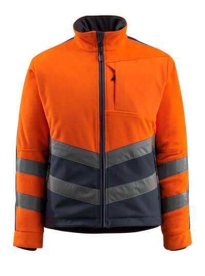 15503-259-14010 Giacca in Pile - arancio hi-vis/blu navy scuro