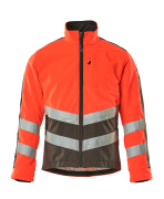 15503-259-22218 Giacca in Pile - rosso hi-vis/antracite scuro
