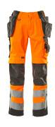 15531-860-1418 Pantaloni con tasche porta-ginocchiere e tasche esterne - arancio hi-vis/antracite scuro