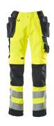 15531-860-14010 Pantaloni con tasche esterne - arancio hi-vis/blu navy scuro
