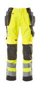 15531-860-1718 Pantaloni con tasche porta-ginocchiere e tasche esterne - giallo hi-vis/antracite scuro