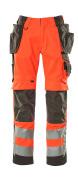 15531-860-22218 Pantaloni con tasche porta-ginocchiere e tasche esterne - rosso hi-vis/antracite scuro