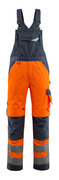 15569-860-14010 Salopette con tasche porta-ginocchiere - arancio hi-vis/blu navy scuro