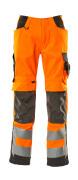 15579-860-1418 Pantaloni con tasche porta-ginocchiere - arancio hi-vis/antracite scuro