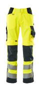 15579-860-17010 Pantaloni con tasche porta-ginocchiere - giallo hi-vis/blu navy scuro