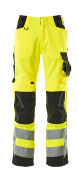 15579-860-1709 Pantaloni con tasche porta-ginocchiere - giallo hi-vis/nero