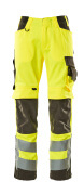 15579-860-1718 Pantaloni con tasche porta-ginocchiere - giallo hi-vis/antracite scuro