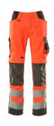 15579-860-22218 Pantaloni con tasche porta-ginocchiere - rosso hi-vis/antracite scuro