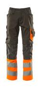 15679-860-1814 Pantaloni con tasche porta-ginocchiere - antracite scuro/arancio hi-vis