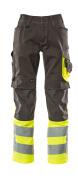 15679-860-1817 Pantaloni con tasche porta-ginocchiere - antracite scuro/giallo hi-vis
