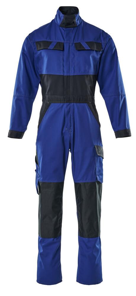 15719-330-11010 Tuta da lavoro con tasche porta-ginocchiere - blu royal/blu navy scuro