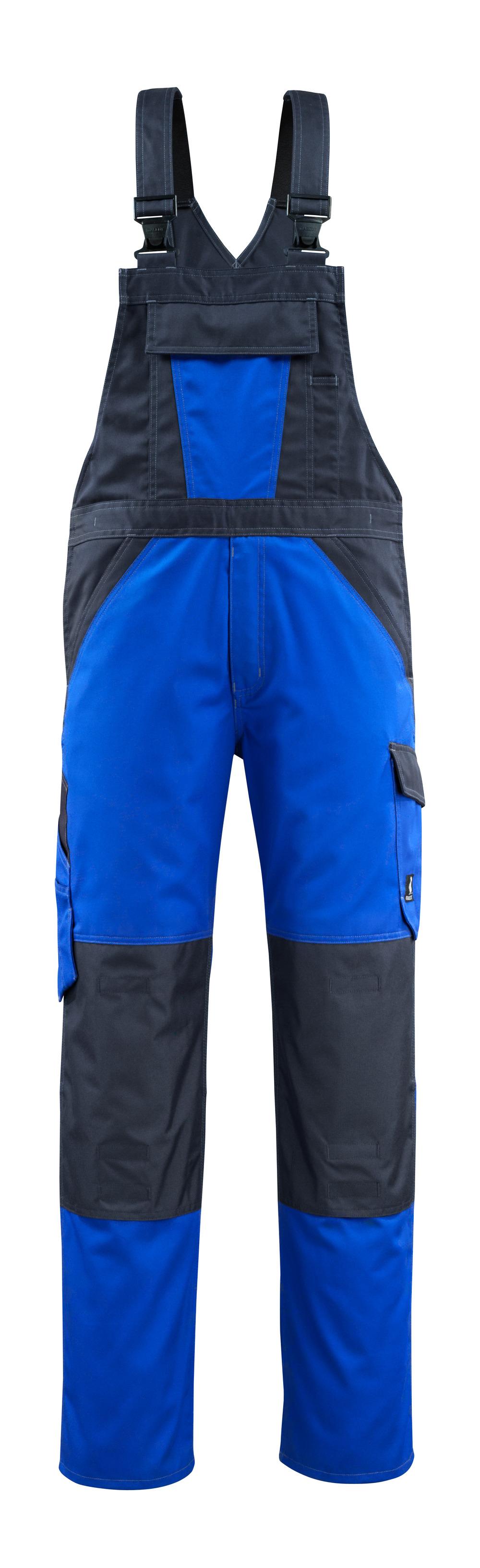 15769-330-11010 Salopette con tasche porta-ginocchiere - blu royal/blu navy scuro