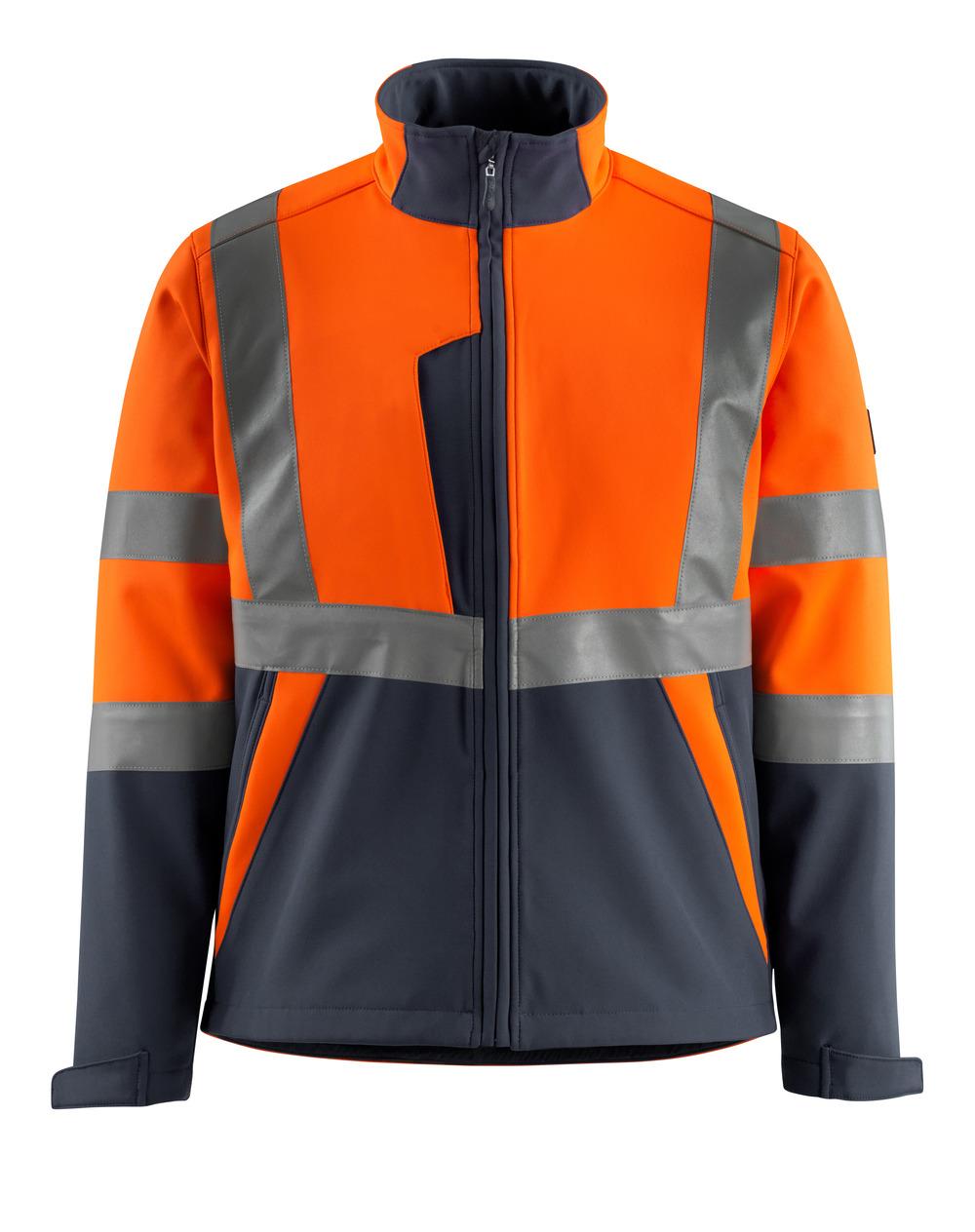 15902-253-14010 Giacca Softshell - arancio hi-vis/blu navy scuro