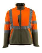 15902-253-1433 Giacca Softshell - arancio hi-vis/verde muschio