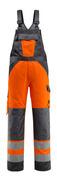 15969-948-1418 Salopette con tasche porta-ginocchiere - arancio hi-vis/antracite scuro
