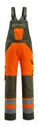 15969-948-1433 Salopette con tasche porta-ginocchiere - arancio hi-vis/verde muschio