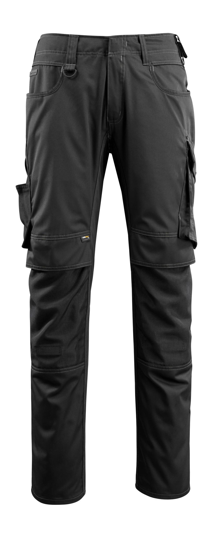 16079-230-09 Pantaloni con tasche porta-ginocchiere - nero