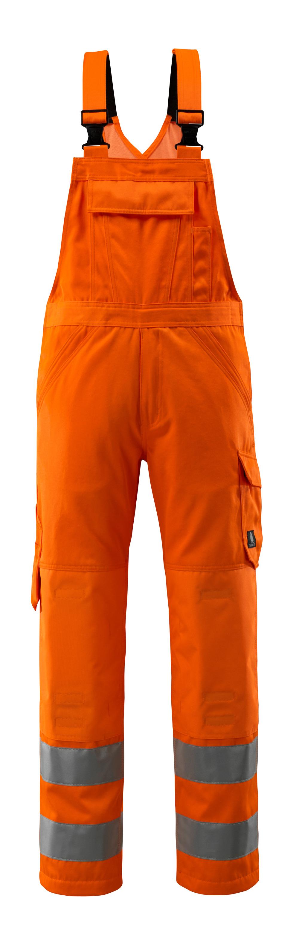 16869-860-14 Salopette con tasche porta-ginocchiere - arancio hi-vis