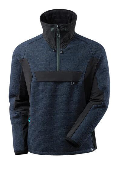 17005-309-01009 Giacca in maglia con mezza cerniera - blu navy scuro/nero