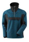 17005-309-4409 Giacca in maglia con mezza cerniera - petrolio scuro/nero