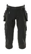 17049-311-09 ¾  Pantaloni con tasche esterne - nero