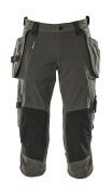 17049-311-18 ¾ Lunghezza Pantaloni con tasche porta-ginocchiere e tasche esterne - antracite scuro