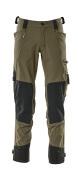 17079-311-33 Pantaloni con tasche porta-ginocchiere - verde muschio