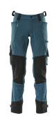 17079-311-09 Pantaloni con tasche porta-ginocchiere - nero