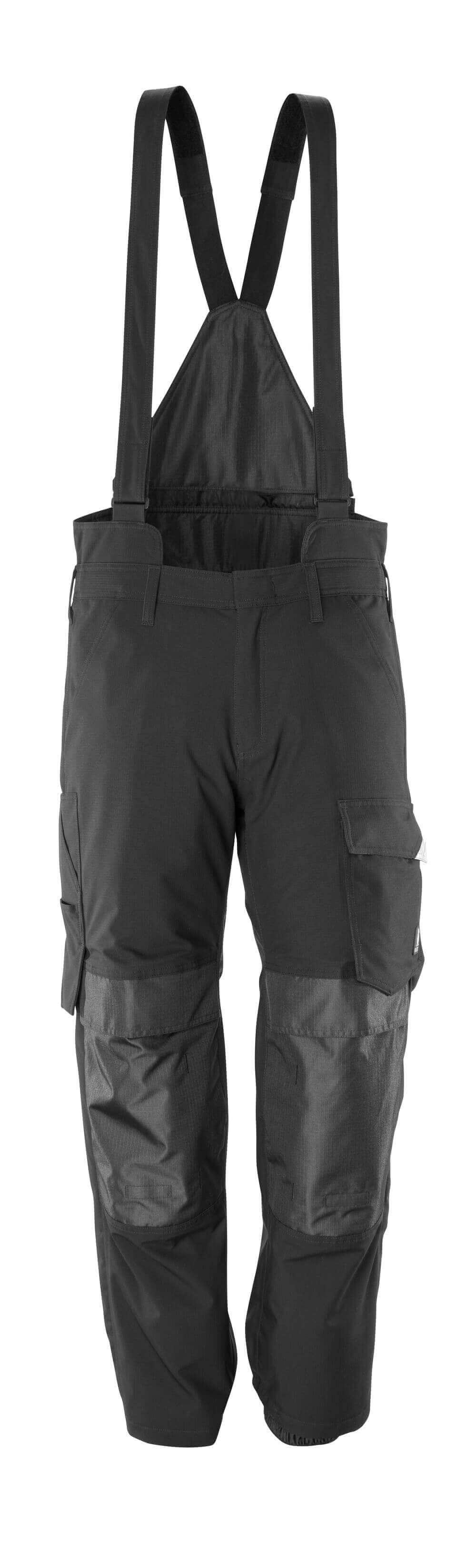 17090-222-09 Sovrapantalone con tasche porta-ginocchiere - nero