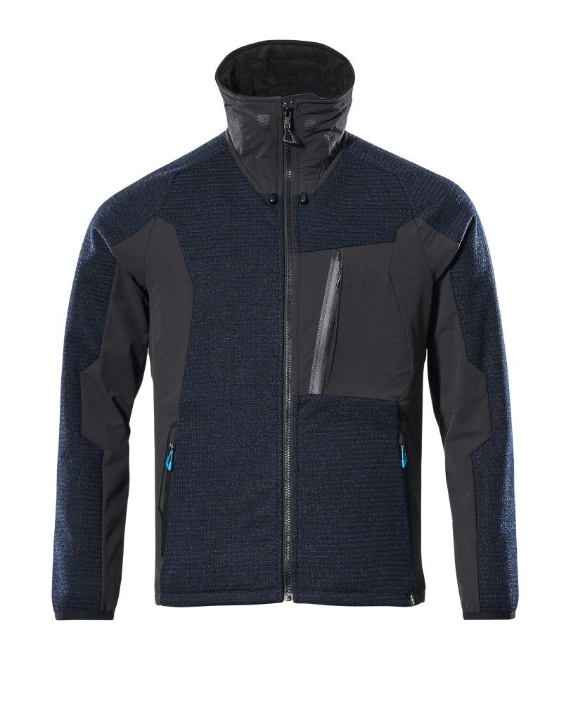17105-309-01009 Giacca in maglia con chiusura lampo - blu navy scuro/nero