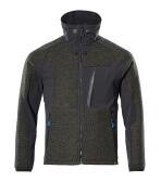 17105-309-3309 Giacca in maglia con chiusura lampo - verde muschio/nero