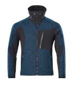 17105-309-4409 Giacca in maglia con chiusura lampo - petrolio scuro/nero
