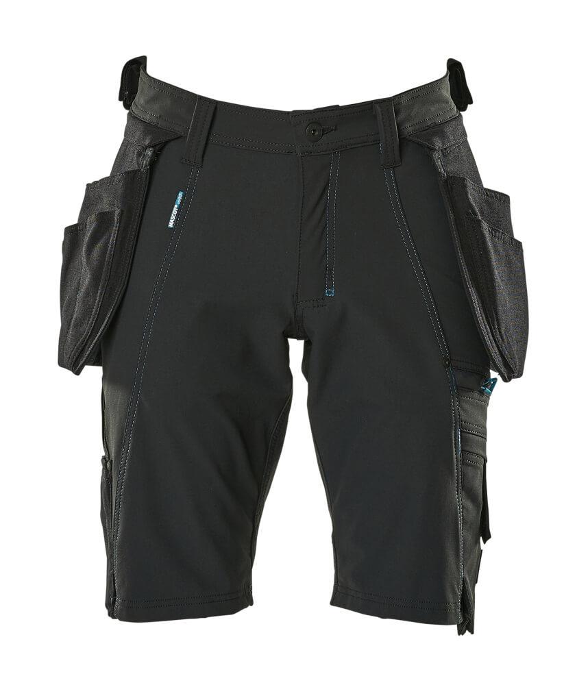 17149-311-09 Pantalone corto con tasche esterne - nero