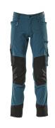 17179-311-44 Pantaloni con tasche porta-ginocchiere - petrolio scuro