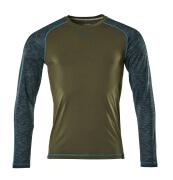 17281-944-33 Maglietta, a maniche lunghe - verde muschio