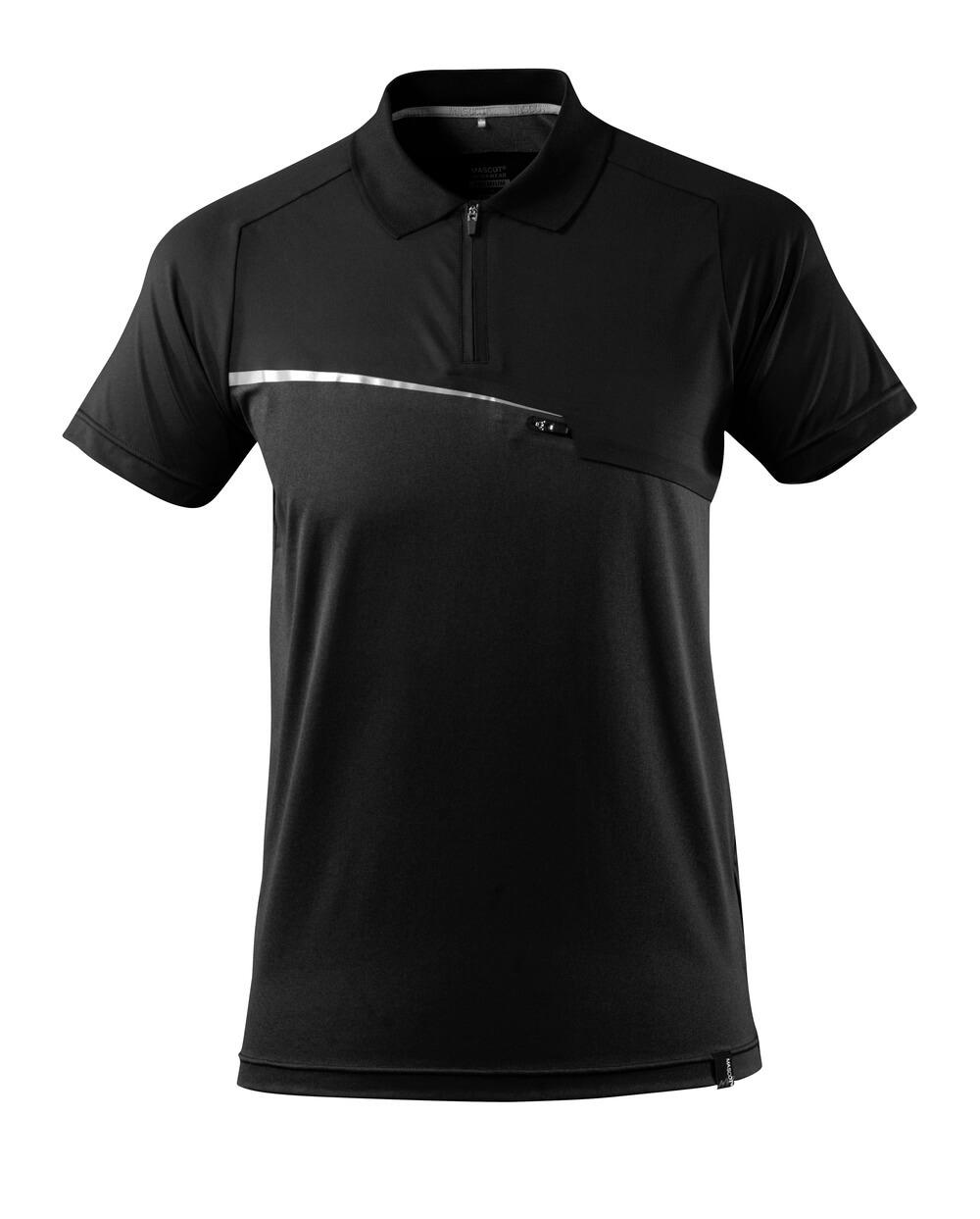 17283-945-09 Polo con tasca sul petto - nero