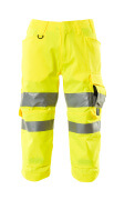 17549-860-14 ¾ Lunghezza Pantaloni con tasche porta-ginocchiere - arancio hi-vis