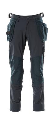 18031-311-010 Pantaloni con tasche porta-ginocchiere e tasche esterne - blu navy scuro
