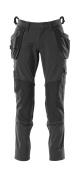18031-311-09 Pantaloni con tasche porta-ginocchiere e tasche esterne - nero