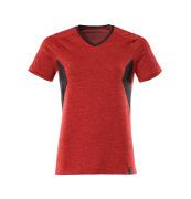 18092-801-20209 Maglietta - rosso melange/nero