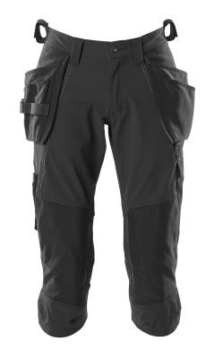 18249-311-010 ¾ Lunghezza Pantaloni con tasche porta-ginocchiere e tasche esterne - blu navy scuro