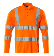 18283-995-14 Polo, a maniche lunghe - arancio hi-vis