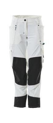 18378-311-06 Pantaloni con tasche porta-ginocchiere - bianco