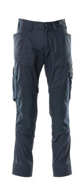 18379-230-010 Pantaloni con tasche porta-ginocchiere - blu navy scuro