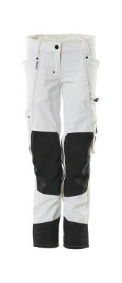 18388-311-06 Pantaloni con tasche porta-ginocchiere - bianco