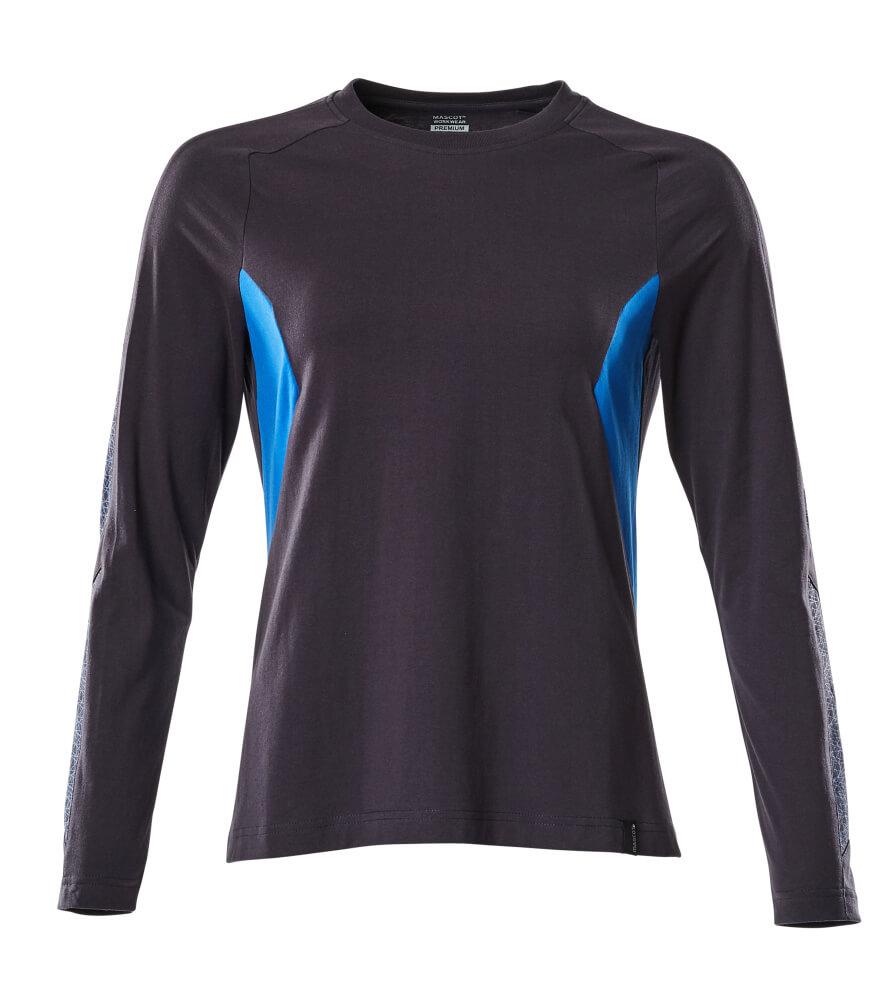 18391-959-01091 Maglietta, a maniche lunghe - blu navy scuro/azzurro